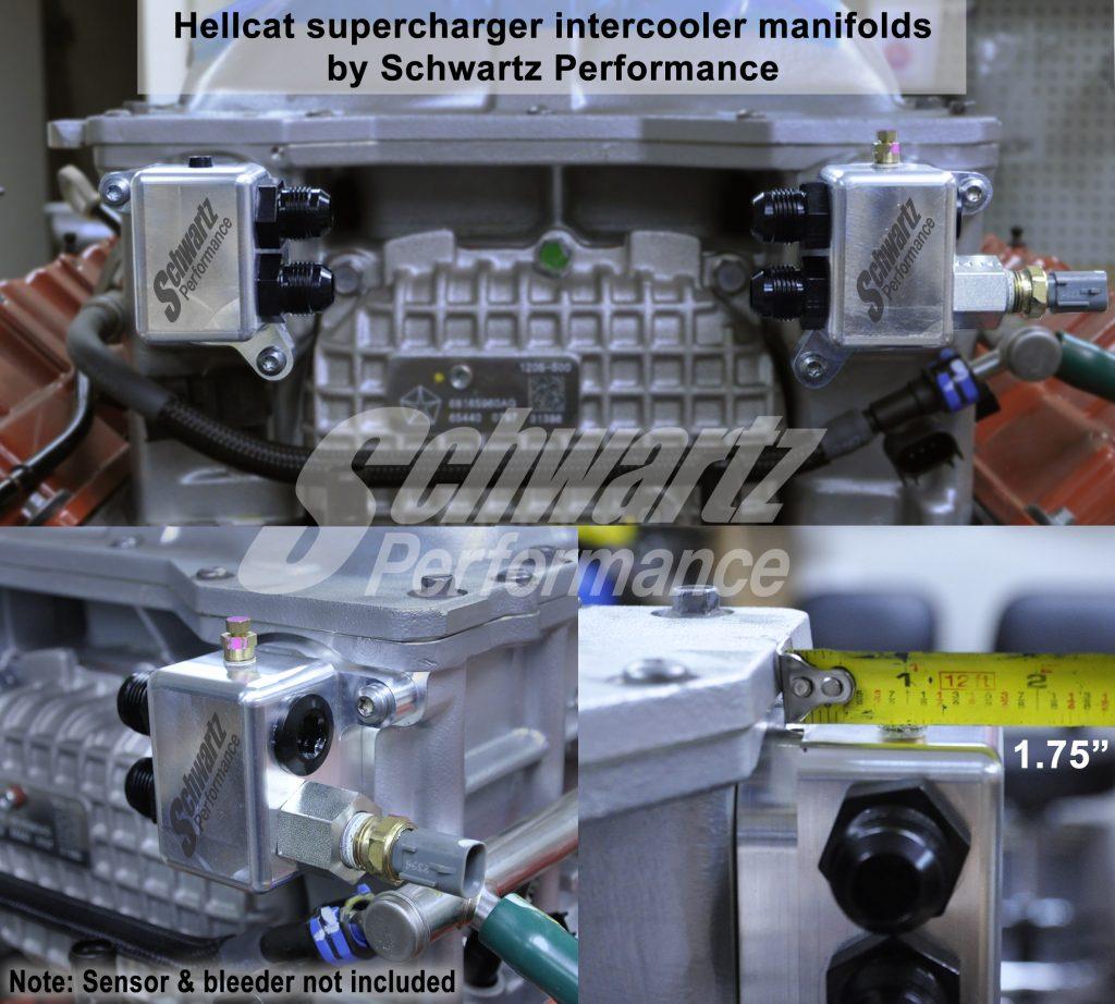 Hellcat Supercharger Intercooler Manifold Adapters - Billet Aluminum An